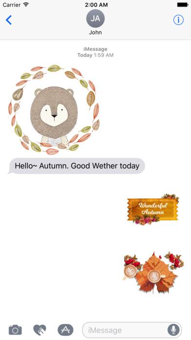 Autumn Love - Animal & Text & Elements Pack screenshot 2