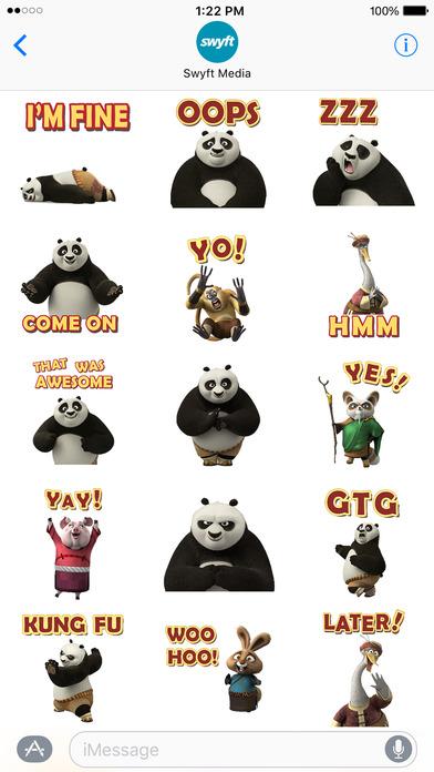 Kung Fu Panda Stickers screenshot 3