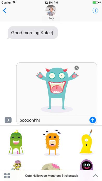 Cute Halloween Monsters Stickerpack screenshot 1