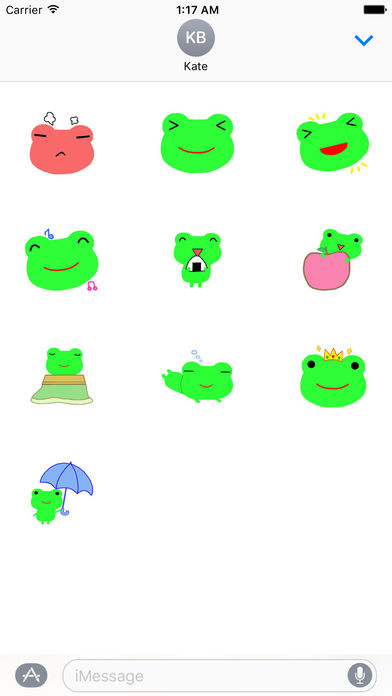 Cute Green Frog Emoji Sticker screenshot 3