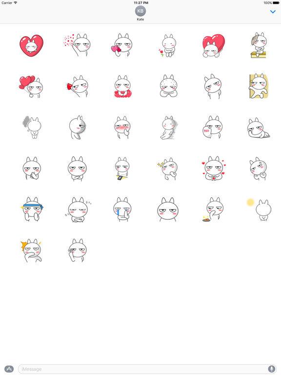 Romantic White Rabbit Stickers screenshot 4