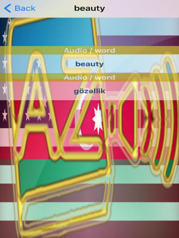 Azerbaijani Dictionary GoldEdition screenshot 10