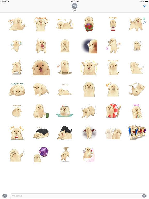 Golden Retriever Puppy Stickers screenshot 4