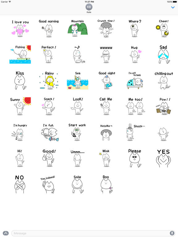 Funny White Cat Stickers screenshot 4
