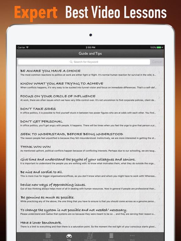 Office Politics Guide-HBR Strategic Tips screenshot 8