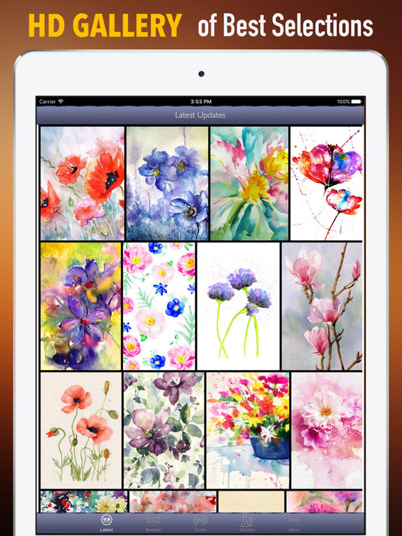 Watercolour Flowers Wallpapers HD- Quotes and Art screenshot 6