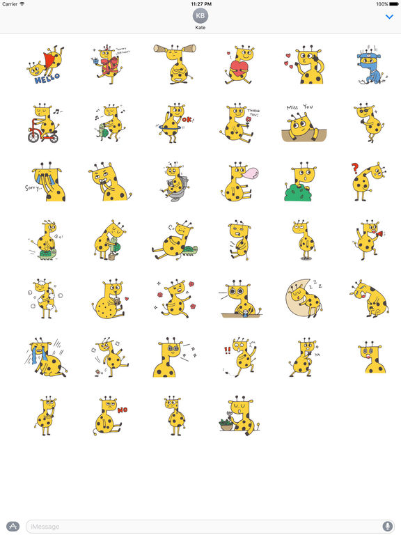 Happy Giraffe Sticker screenshot 4