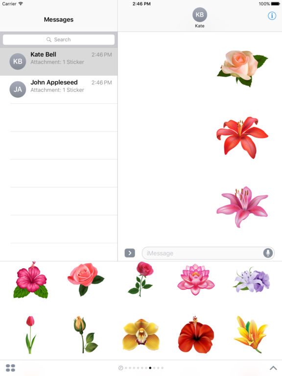 Flowers Pack HD Stickers for iMessage screenshot 7