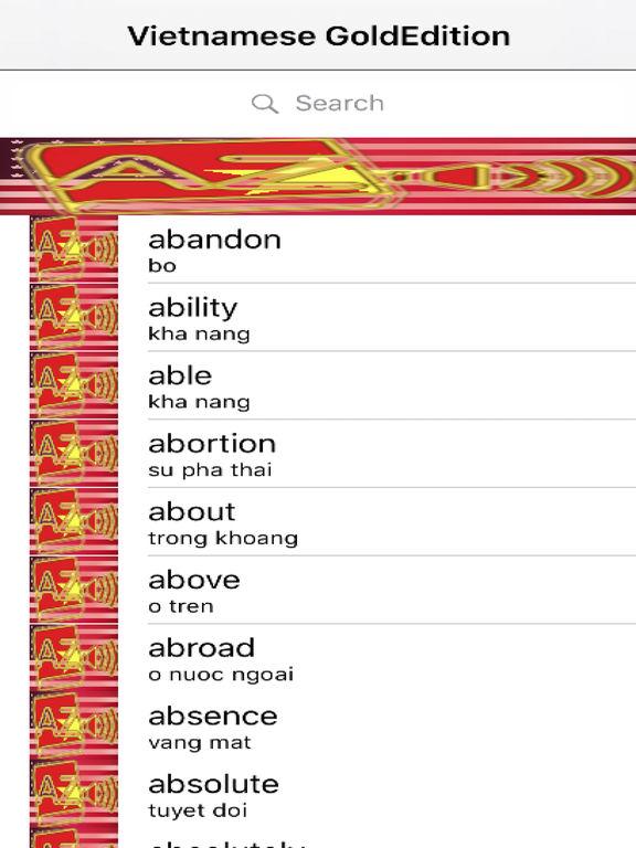 Vietnamese Dictionary GoldEdition screenshot 6