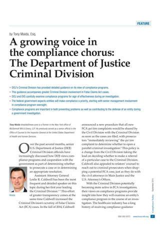 HCCA Compliance Today Magazine - náhled