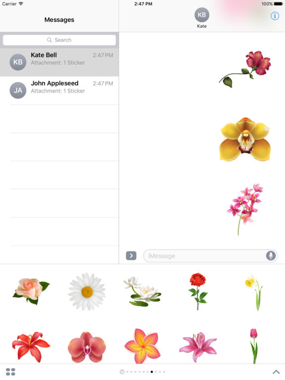 Flowers Pack HD Stickers for iMessage screenshot 6