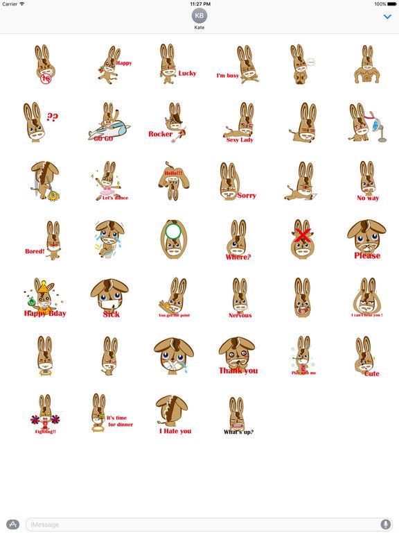 Cute Donkey Stickers screenshot 4