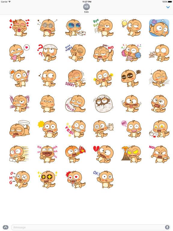 Cute Little Dinosaur Sticker screenshot 4