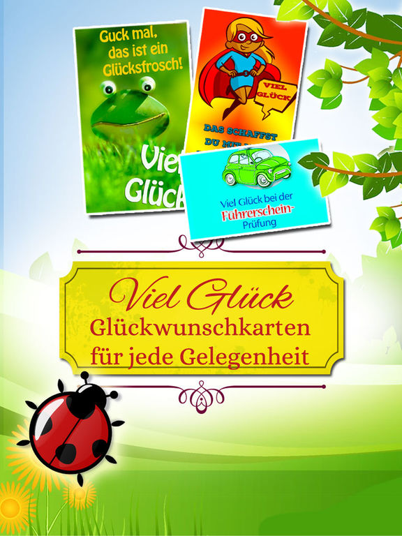 Viel Glück - Glückwunschkarten & Grußkarten screenshot 6