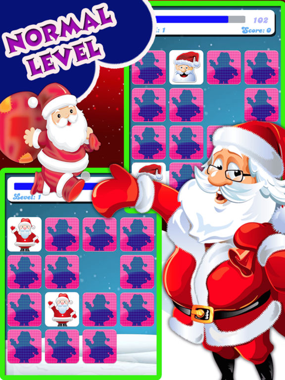 Christmas Matching Pairs - Santa Slaus and Xmas screenshot 7
