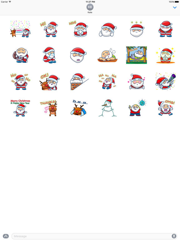 Animated Sticker Of Santa Claus And His Reindeer screenshot 3