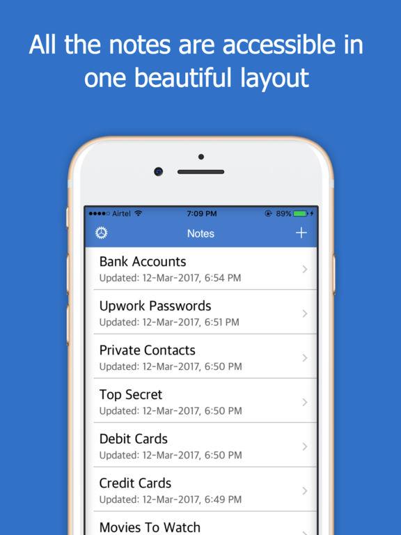Secrete Lock Notes Pro - Cloud screenshot 6