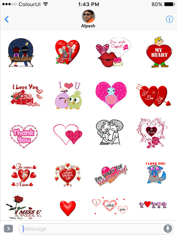 Valentine's Day 2017 Animated Sticker for iMessage screenshot 4