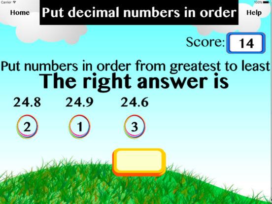 Put decimal numbers in order screenshot 2
