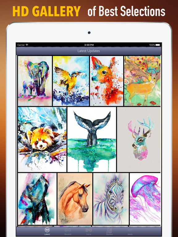 Watercolour Animals Wallpapers HD- Quotes and Art screenshot 6