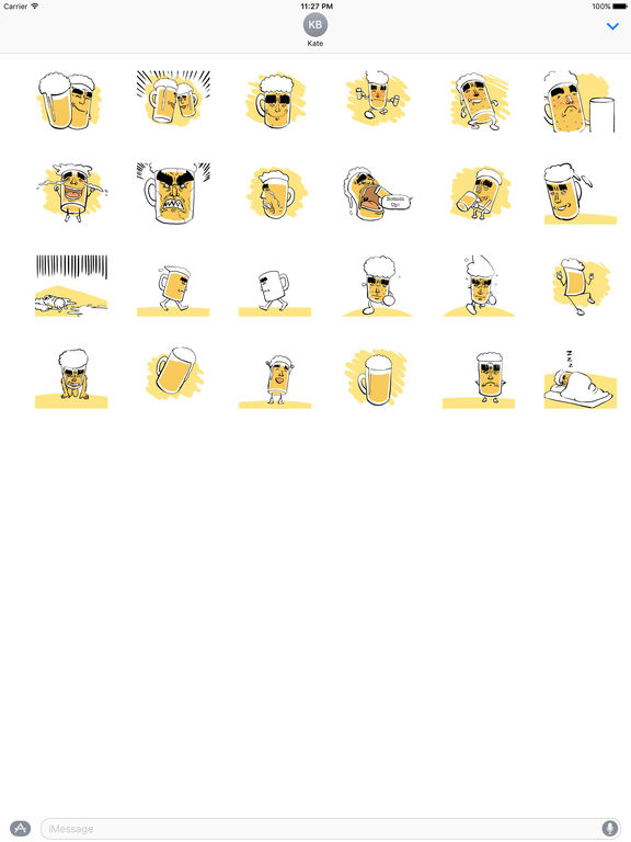 Animated Beer Cups In Party Sticker screenshot 3