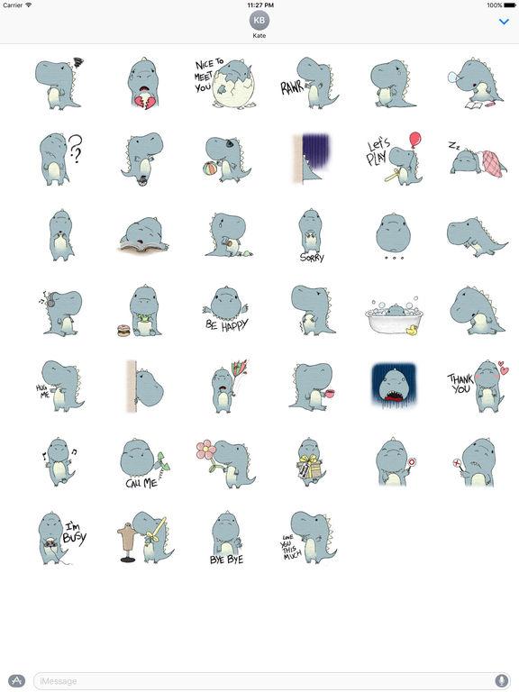 Lovely Dinosaur Stickers Pack screenshot 4