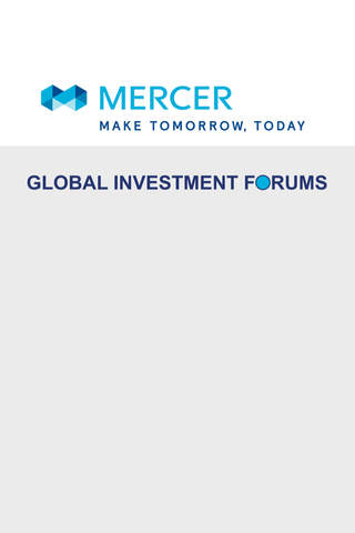 Mercer Global Investment Forum - náhled