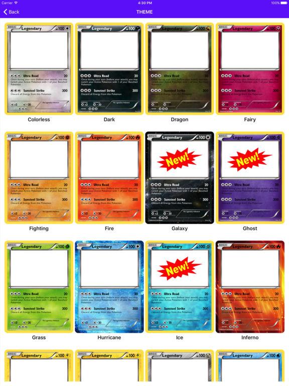 Card Maker Creator for Pokemon screenshot 8