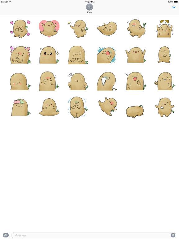 Animation Chubby and Cute Potato Sticker screenshot 3