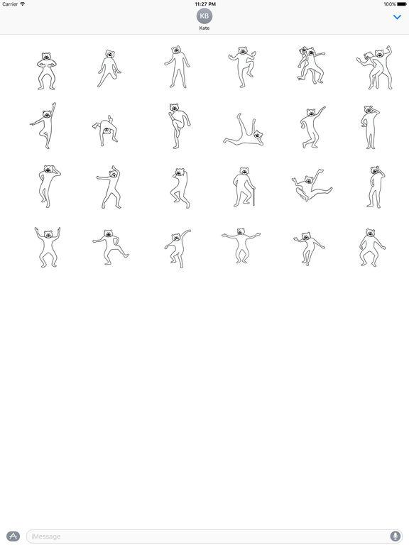 Animated Funny Bearman Dancing Sticker screenshot 3
