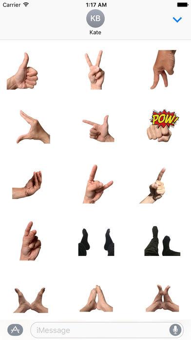 Animated Hand And Foot Sticker screenshot 1