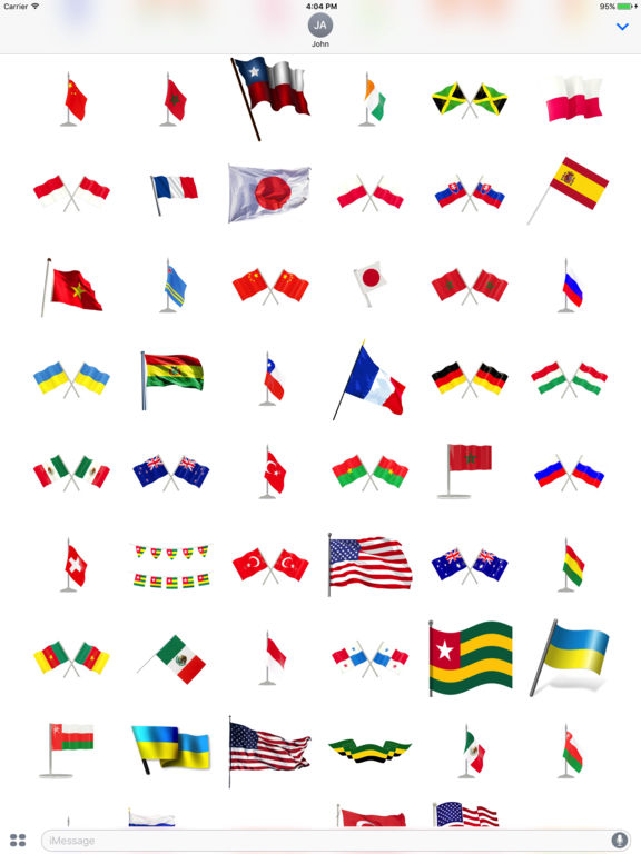 Flags Stickers Pack screenshot 4
