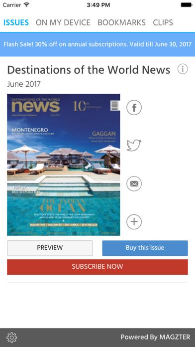 Destinations of the World News screenshot 1