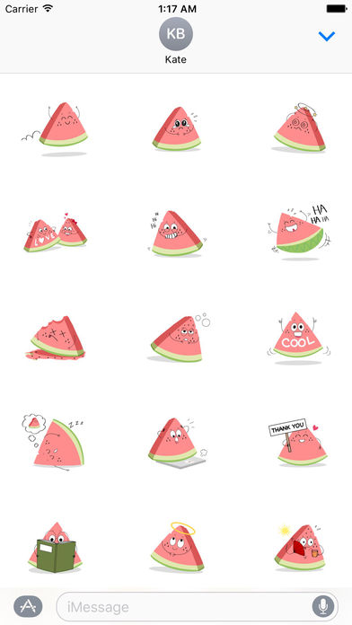 Relaxing Watermelon Emoji Sticker screenshot 2
