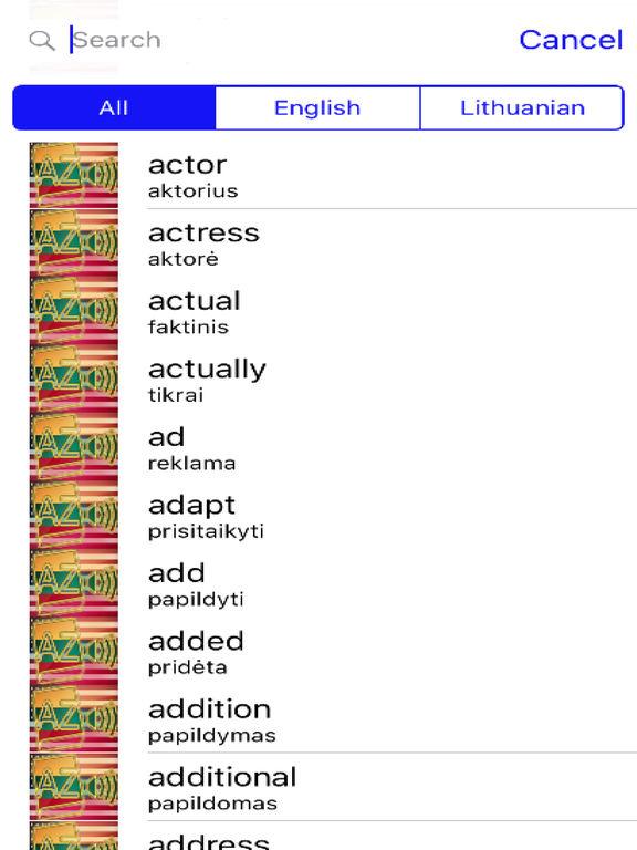 Lithuanian Dictionary GoldEdition screenshot 7