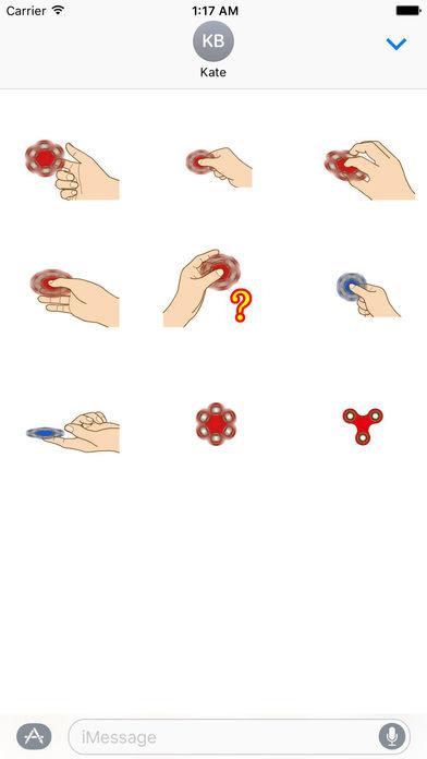 Animated Fidget Spinner Sticker screenshot 2