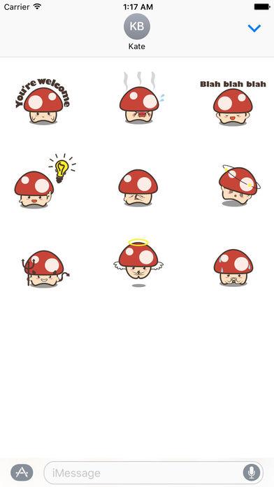 Animated Cute Mushroom Stickers screenshot 2