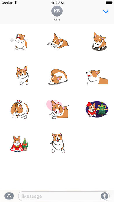 Pembroke Welsh Corgi Dog Emoji Sticker screenshot 3