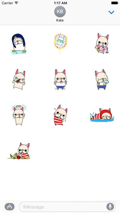 French Bulldog Sticker for Summer screenshot 3