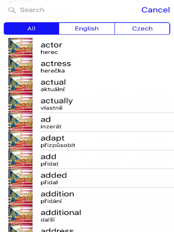 Czech Dictionary GoldEdition screenshot 7