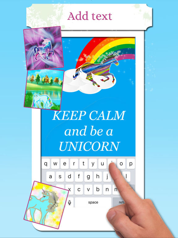 Unicorn Wallpaper Maker – Add your own text! screenshot 5