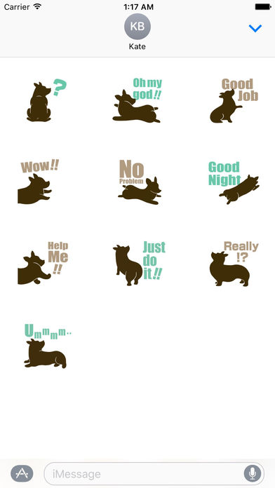 Welsh Corgi Dog Silhouette Sticker Pack screenshot 3