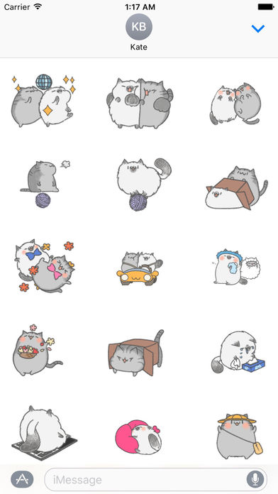 Animated Watercolor Cute Cat Gif Stickers screenshot 1