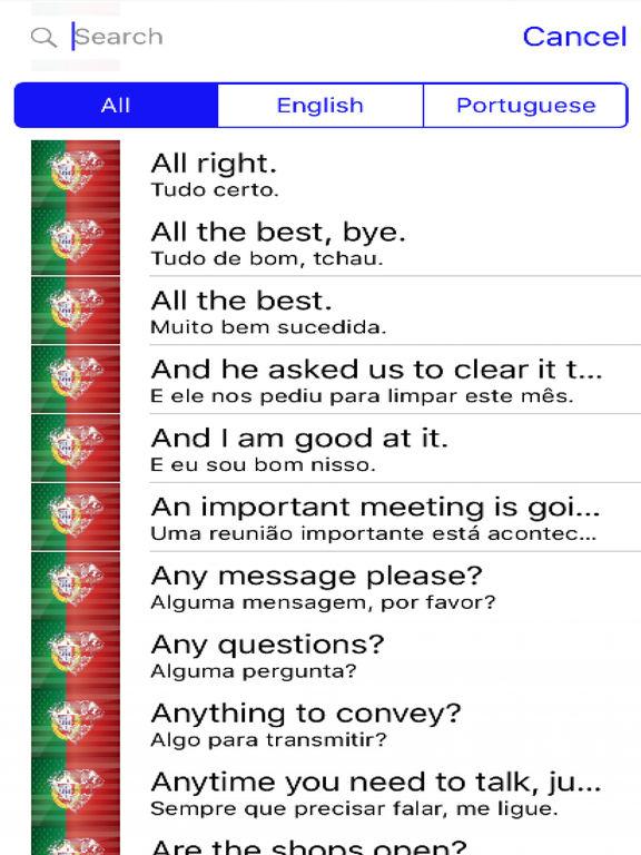 Portuguese Phrases screenshot 4