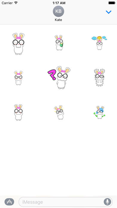 Animated Adorable Rabbit Stickers screenshot 2