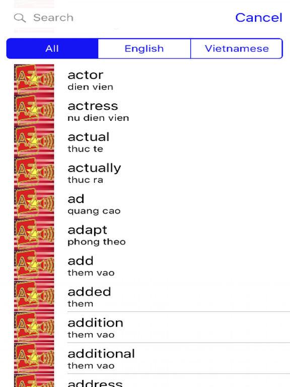 Vietnamese Dictionary GoldEdition screenshot 7