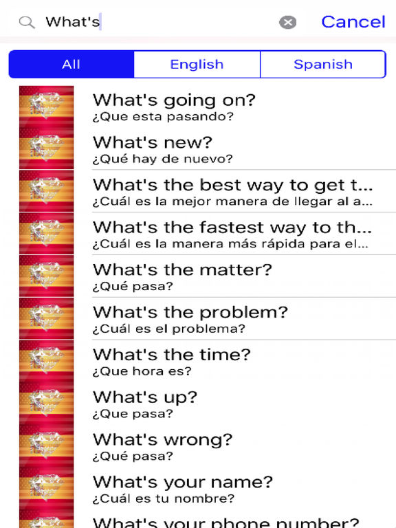 Spanish Phrases Diamond 4K Edition screenshot 5
