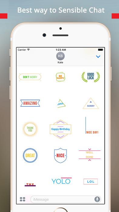 TypoChat -Minimal Animated Typography Chat Message screenshot 5