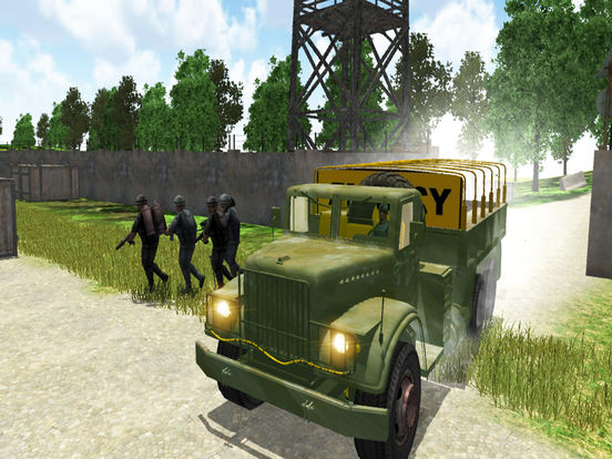 4x4 Military Jeep Driving Simulator in War Land screenshot 9
