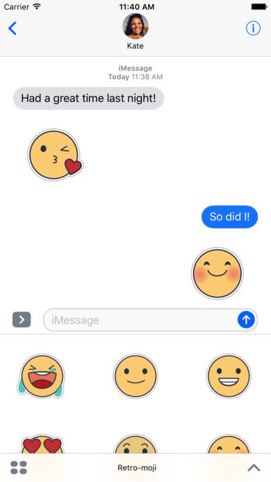 Retromoji - Animated Emoji Stickers screenshot 1